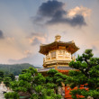 Stock Photo: Golden buddhism tower