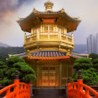 Golden buddhism tower — Stock fotografie
