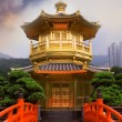 图库照片: Golden buddhism tower