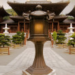 Chinese temple with lamp - Stock Photo