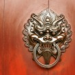 Chinese decoration of bronze lion — Stock Photo