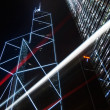 Skyscraper with cars motion blurred — Foto Stock