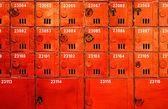 многие почтовый ящик в старом стиле — Стоковое фото