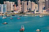 Colorful boats in Hong Kong — Stock Photo