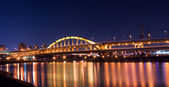 City night scene of bridge — Stock Photo