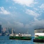 hong Kong victoria Harbor feribot — Stok fotoğraf