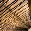 Beautiful architecture of wooden roof — Stock Photo