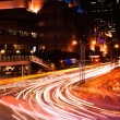Cars light in city — Stockfoto