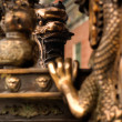 Chinese dragon on incense burner — Stock Photo