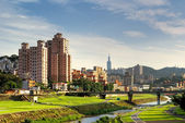 Suburb cityscape of Taipei — Stock Photo