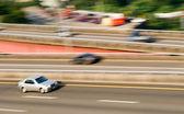 Highway cars — Stock Photo