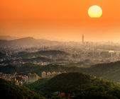 Taipei sunset — Stock Photo