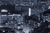 Modern buildings in night — Stock Photo