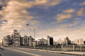Cityscape of buildings — Stock Photo
