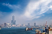 Cityscape of harbor — Stock Photo