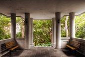 Paviljoen structuur interieur — Stockfoto