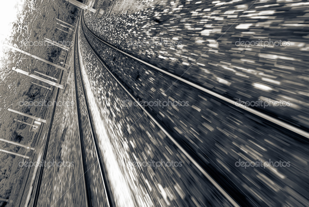Railway track with high speed motion blurred in Taiwan. — Stock Photo #2020231
