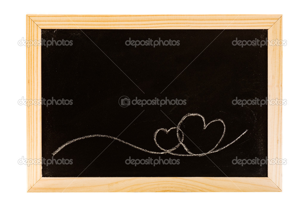 Love border background write on the blackboard. — Stock Photo #2020651