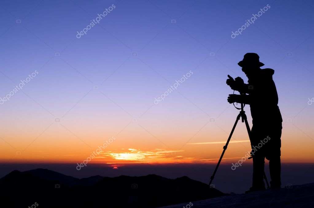 Outdoor photographer silhouette