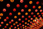 Lots of red chinese lantern — Stock Photo