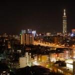 City night scene in Taipei — Stock Photo #2162139