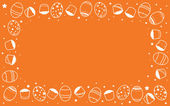 Easter orange background — Stock Photo