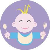Baby food logo — Stock Vector