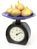 Old kitchen scales — Stock Photo