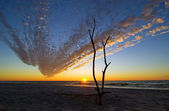 Incredible sky at Baltic Sea — Foto Stock