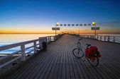 Bike on a pier — Stock Photo