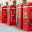 5 phone boxes — Stock Photo #1964720