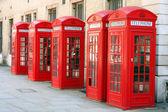 5 phone boxes — Stock Photo