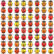 64 bugs - Stock Photo