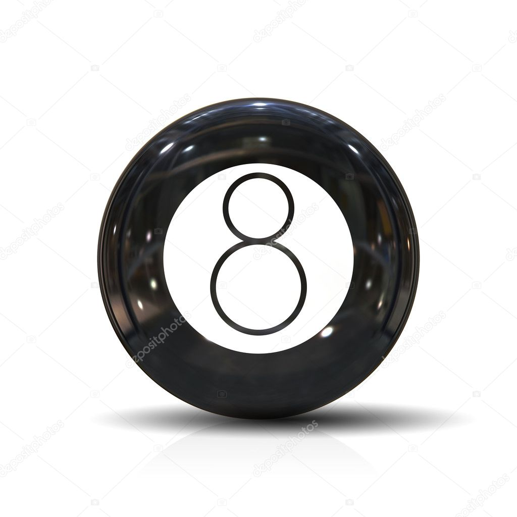 An illustration of a black eight ball — Stock Photo #2017907