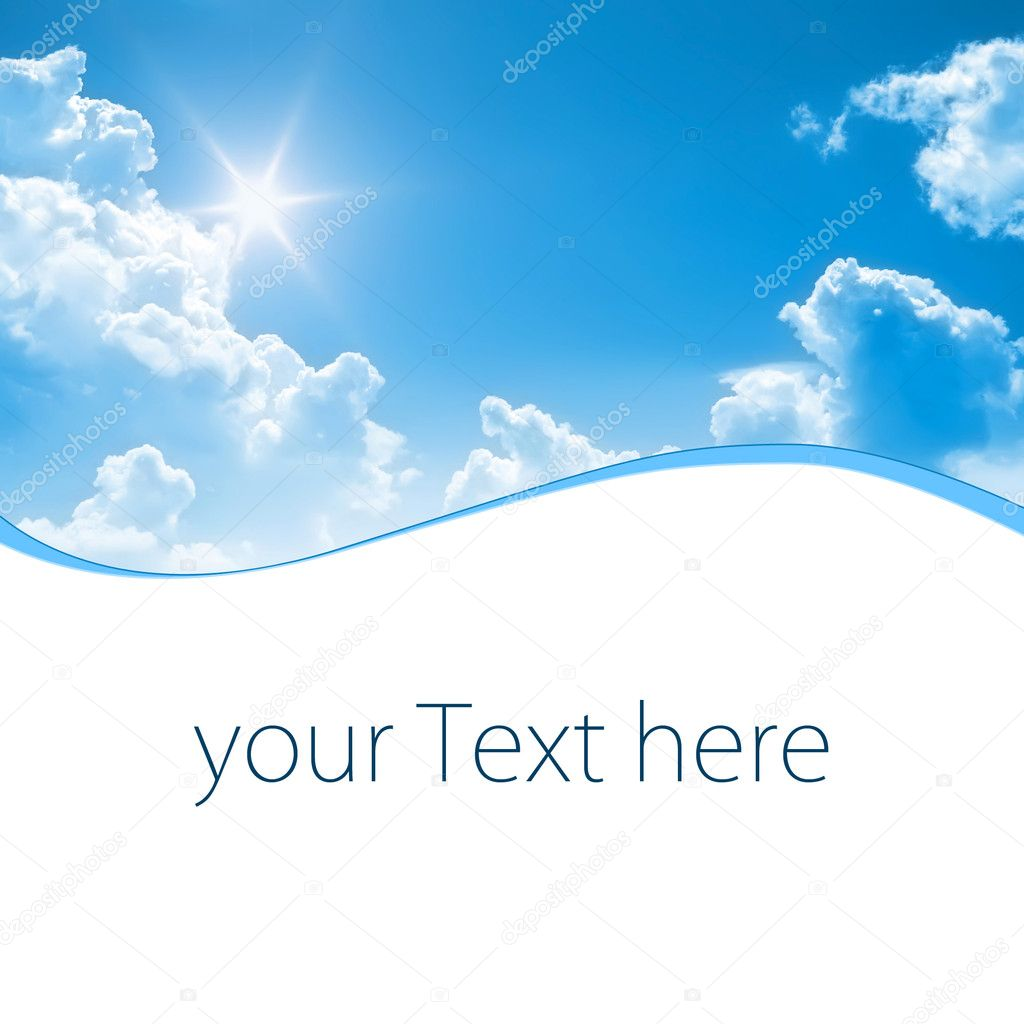 A photography of a blue sunny sky with space for some message  Stockfoto #2018561