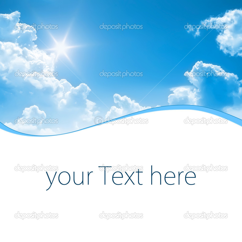 A photography of a blue sunny sky with space for some message — Foto Stock #2018561