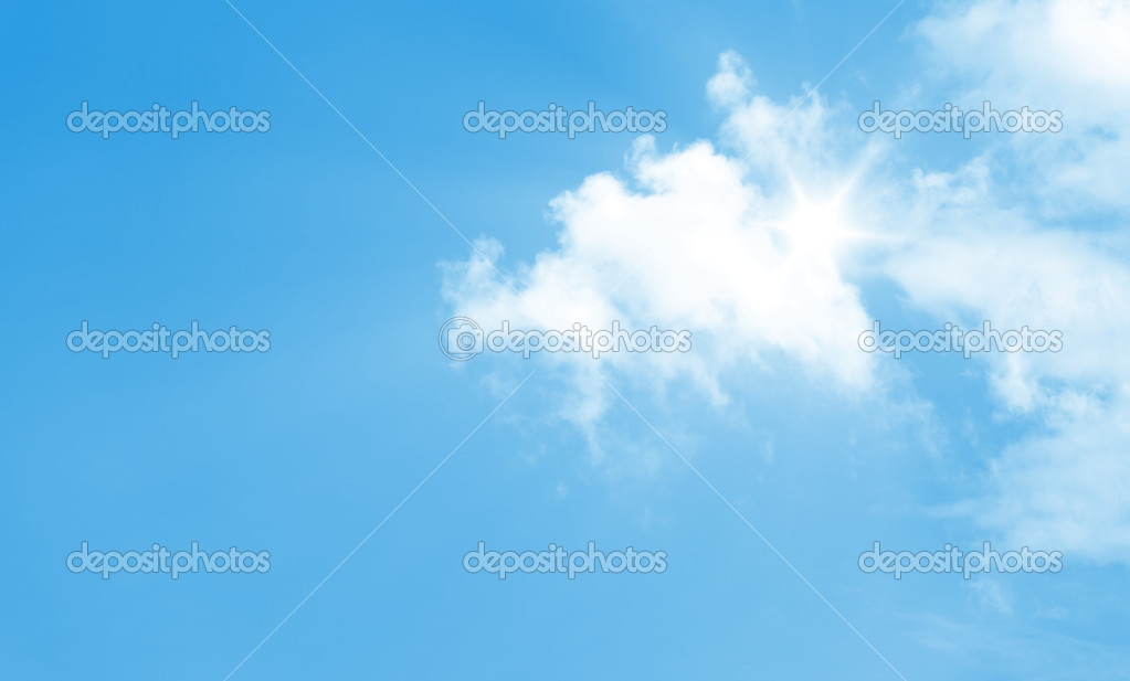 A photography of a bright blue sky — Stock Photo #2018578