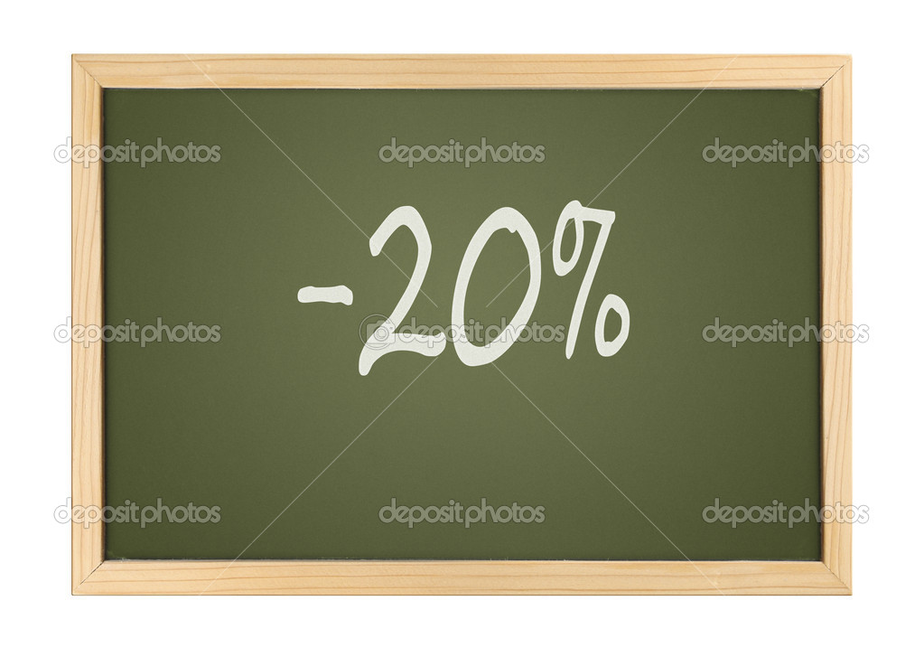 A photography of a small chalk board bargain — Stock Photo #2020666