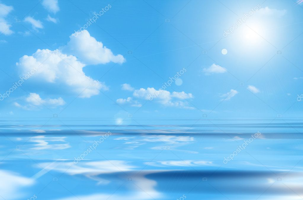A photography of a blue sky over the ocean — Stock Photo #2024894