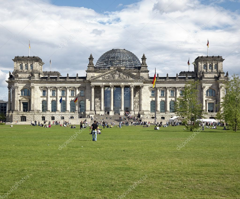 A photography of the Reichstag in Berlin Germany  Stock Photo #2025024