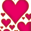 Royalty-Free Stock Photo: Hearts bg