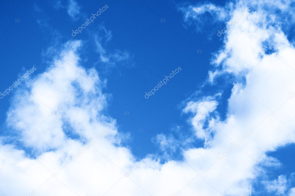 A photography of a blue sky background — Foto de Stock   #2108886