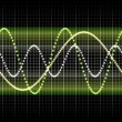 Sound wave graphic - Stock Photo