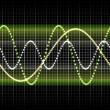 Sound wave graphic — Stock Photo
