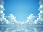 Idyllic blue sky — Stock Photo