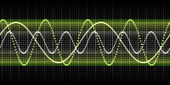 Sound wave graphic — Stok fotoğraf