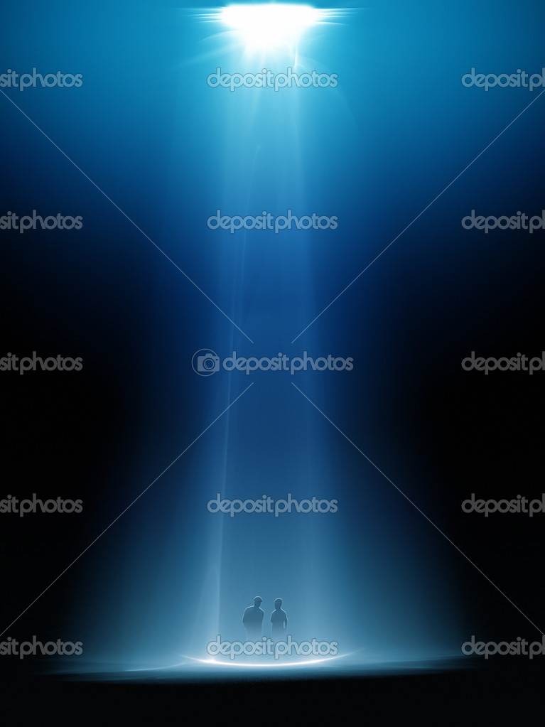 An illustration of a nice light beam from above — Stock Photo #2121294