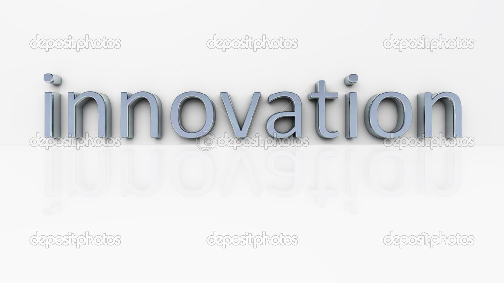 An illustration of the chrome word innovation — Stock Photo #2122806