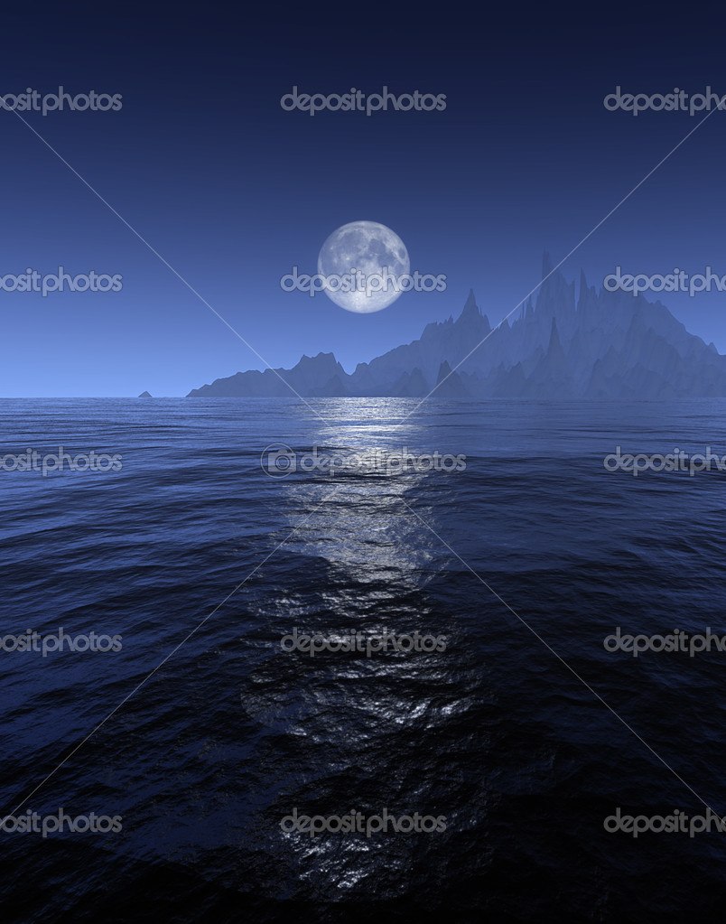 An illustration of a full moon background — Stock Photo #2447117