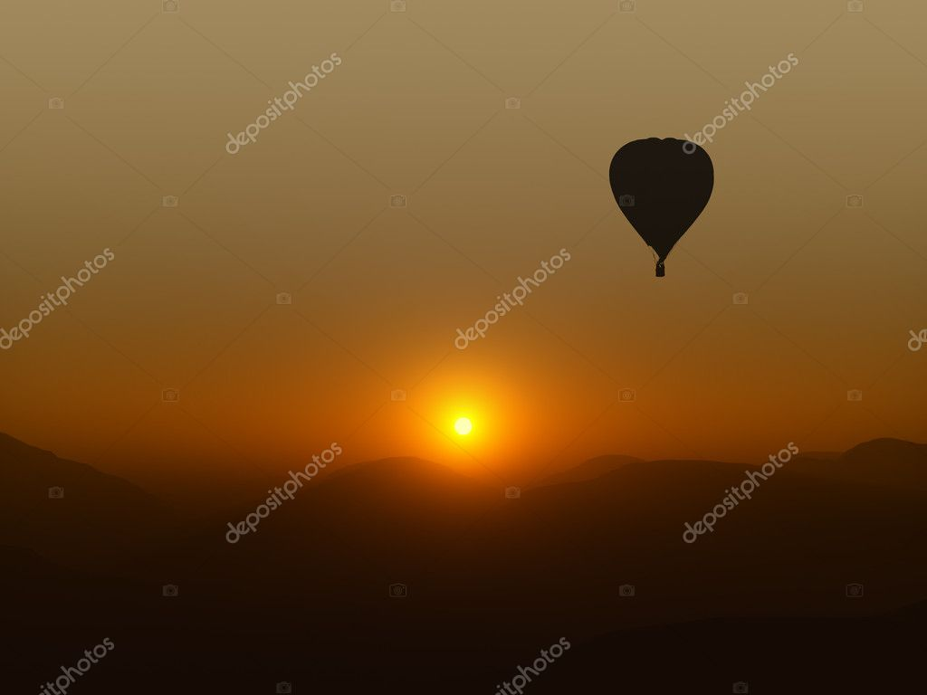 A photography of a hot air balloon  Stock Photo #2447247